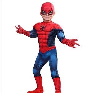 SPIDERMAN Costume kids Polyester/ Foam (2) Years